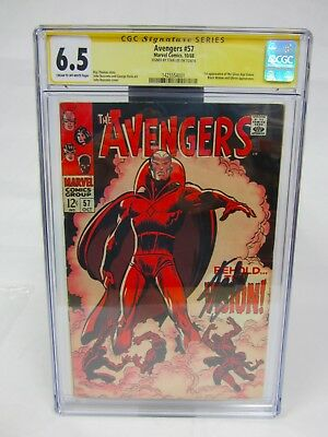 Marvel Avengers #57 1St Appearance Silver Vision Cgc 6.5 Stan Lee Auto Signed