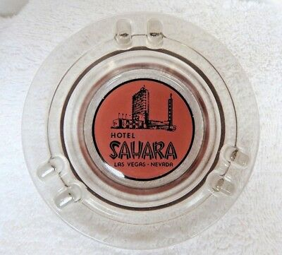 "VINTAGE 1950's ""Sahara Hotel & Casino"" Ashtray Las Vegas Nevada Tough Light Gray"