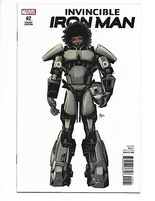 Invincible Iron Man #2 (2017) Deodato 1:10 Incentive Variant Cover