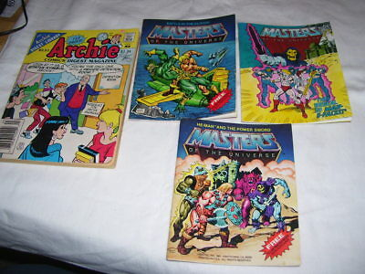 Lot of Vintage Mattel Masters of the Universe 1982 and Archie 1988 Comic Books