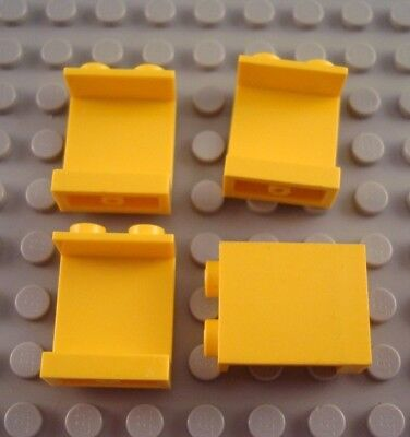 LEGO Lot of 4 Yellow 1x2x2 Wall Panel Pieces