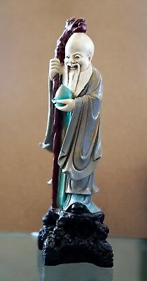 """Vintage Chinese Old Wise Man Figurine 12"""" tall"""