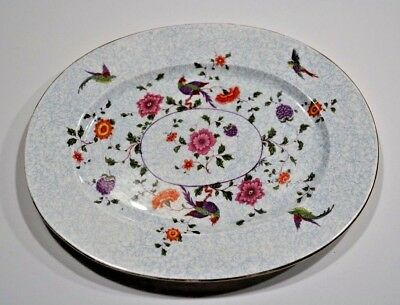 Staffordshire-England Crown Fine Bone China Birds Paradise Oval Platter 13""