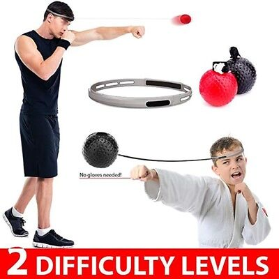 Boxing Fight Ball Reflex Training Punch Focus Fitness Elastic Rope Headband US