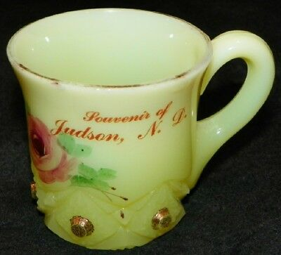Vintage Judson Nd Custard Glass Souvenir Cup