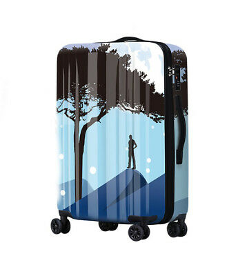A371 Fashion Portable Universal Wheel ABS+PC Travel Suitcase Luggage 20 Inches W