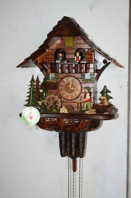 Rare Black Forest Schwarzwald Musical Cuckoo Clock With Animation – Germany
