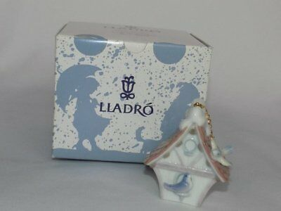 "Lladro Spain ""Welcome Home"" Bird House 90's Porcelain Ornament Boxed #6335"