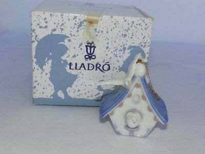 "Lladro Spain ""Home Sweet Home"" Bird House 90's Porcelain Ornament Boxed #6336"