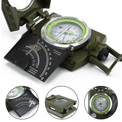 UK New Professional Military Army Metal Sighting Compass Clinometer Camping