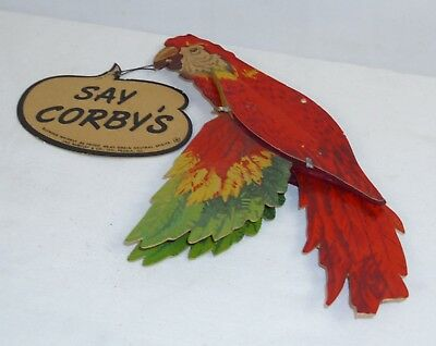 Say Corby's Hanging Parrot Whiskey Bar Sign