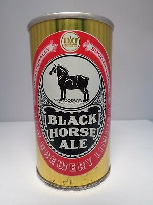 Black Horse Ale Straight Steel Pull Tab Beer Can  Dow Brewry Canada