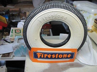 Pre-Owned 2.50-4 Firestone Rubber Tire Display.