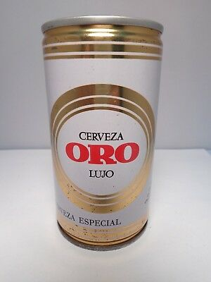 ORO LUJO CERVEZA ESPECIAL 35cl. CRIMPED STEEL PULL TAB BEER CAN