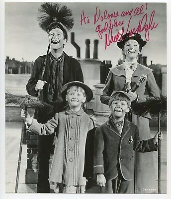DIck Van Dyke Signed Photo 1965 w/Credits & Provenance Mary Poppins Disney J1814
