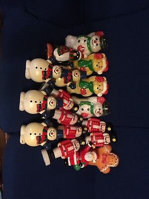 Huge Lot Of VINTAGE BLOWMOLD CHRISTMAS LIGHT TOPPERS Some Empire Nice Selection