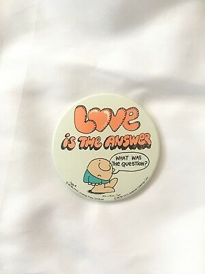 1977 Ziggy Love Is The Answer Pin/Button
