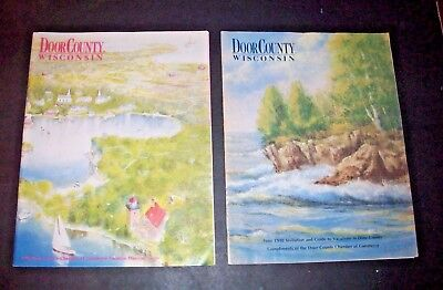 1989 & 1990 Door County Wisconsin Vacation Guide LOT Chamber of Commerce