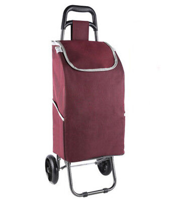 A155 Rugged Aluminium Luggage Trolley Hand Truck Folding Foldable Shopping Cart