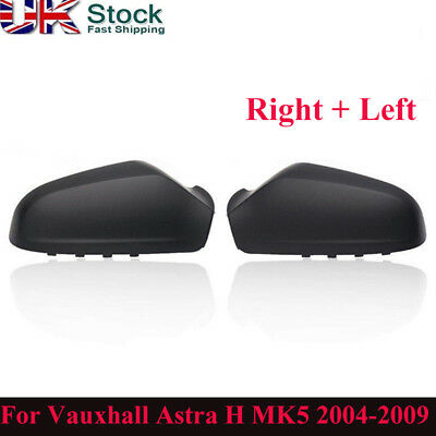 For Vauxhall Astra H MK5 2004-2009 Wing Mirror Cover Cap Casing Pair Left+Right