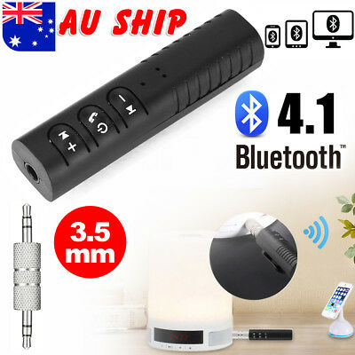 Bluetooth Wireless Handsfree Car Receiver 3.5mm AUX Music Stereo Audio Adapter