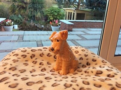 Collectors SYLVAC Brown Pottery Terrier Dog 1579