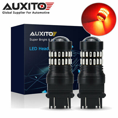 Auxito 2X 3157 4157 3047 Red 4014 48 Led Brake Stop Tail Light Canbus Bulb Globe