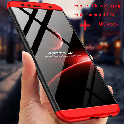 360 Full Cover Shockproof Case For Samsung Galaxy A7 A8 A9 2018+Tempered Glass