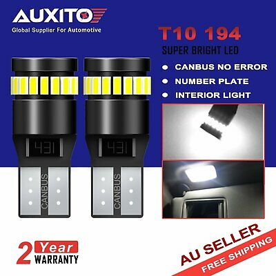 AUXITO 2x CANBUS T10 Wedge 24SMD Globe Parker Interior Map LED Bulbs W5W 194 168