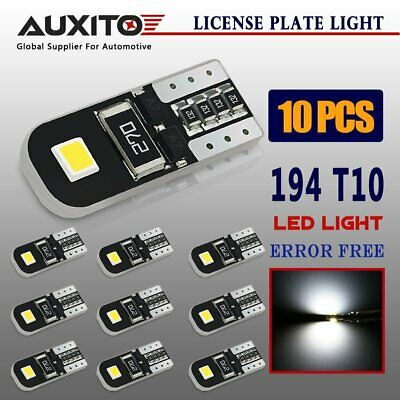 AUXITO 10PCS CANBUS T10 Wedge 2SMD Parker Number LED Bulbs W5W 194 168 131
