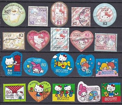 JAPAN 2 X DIFFERENT HELLO KITTY SETS (ref 23) USED