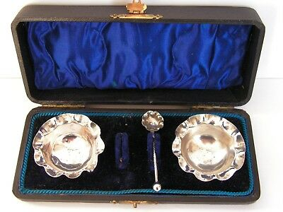 Antique Victorian Solid Silver Two Piece Cruet Set William Adams 1900