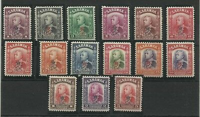 Sarawak 1947 Full Set of 15 Crown Colony Issues Sg 150-164, LM/Mint. {C/W 476}