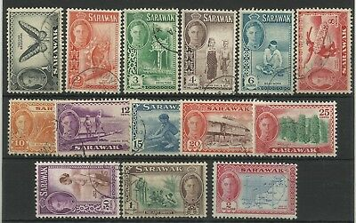 Sarawak 1950 Part Set to $2, 14 of 15 Values, Sg 171-184, Fine used. {C/W 478}