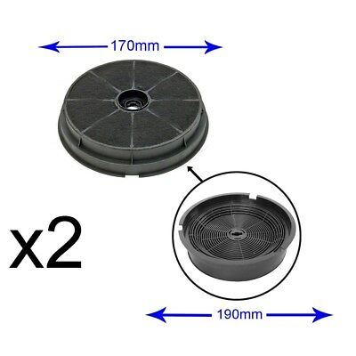 2 x Round Charcoal Carbon Cooker Oven Hood Extractor Filter CDA CST6 CHA5 P-562#