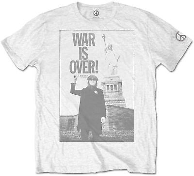 JOHN LENNON THE BEATLES Statue Of Liberty Lady War Is Over T-SHIRT OFFICIAL