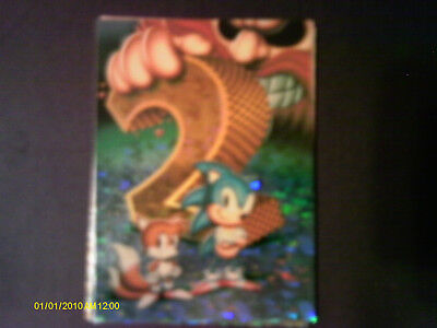 """1993 Topps. """"Sonic The Hedgehog"""" Prism Insert Card #2"""