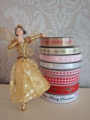 Gisela Graham Christmas Ribbon 9 Metre Length On Reel Gift Wrap Present Crafts