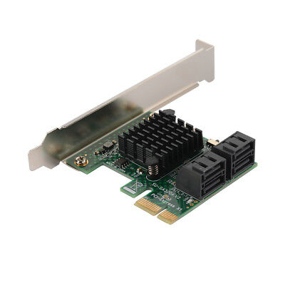PCI-E PCI Express To 4-Port SATA 3.0 Expansion Controller Card for Mining AC1539
