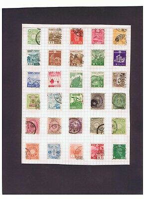Japan Nippon nice lot of 66 old used stamps on album pages