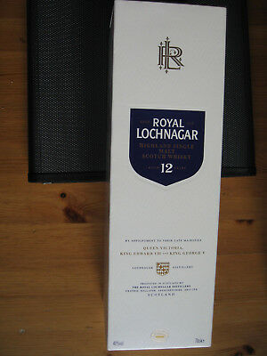 Leere Highland Single Malt Scotch Whisky Schachtel Dose ROYAL LOCHNAGAR