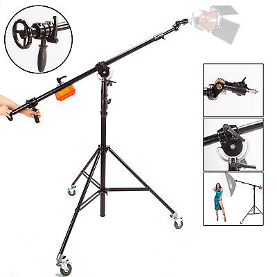 Heavy Duty Boom Arm Light Stand Studio Counterweight Photography Photo Video Kit