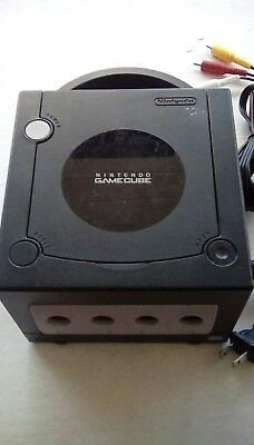 Nintendo GameCube console only with cables black tested and working