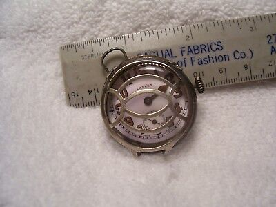 Vintage Marvin W/co Art Deco  Sterling Case Mans  W/watch  1900S As Is
