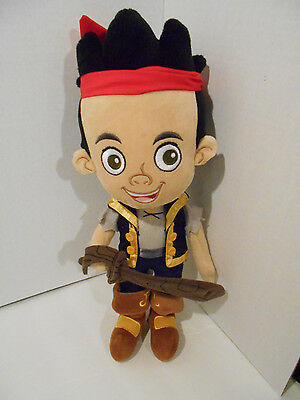 Jake And The Never Land Pirates Plush Doll  Disney Store 14in  CLEAN  jdk