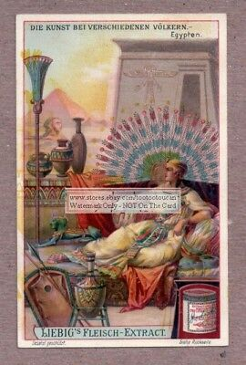 Ancient Egypt Egyptian Art Crafts Pottery Clothing Pyramid c1907 Trade Ad Card