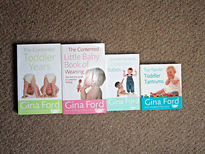 Gina Ford Book Books Toddler tantrums contented babies baby weaning bundle years