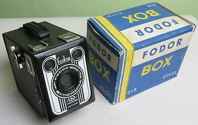 Boxed German 'fodor-Box Syncrona' 120 Box Camera