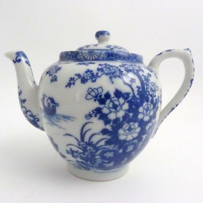 Japanese Blue And White Arita Porcelian Teapot And Cover, Meiji Period, Signed