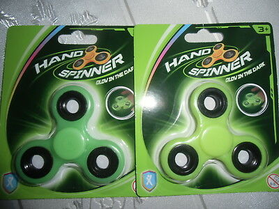 2 Hand Spinner neu Glow in the Dark